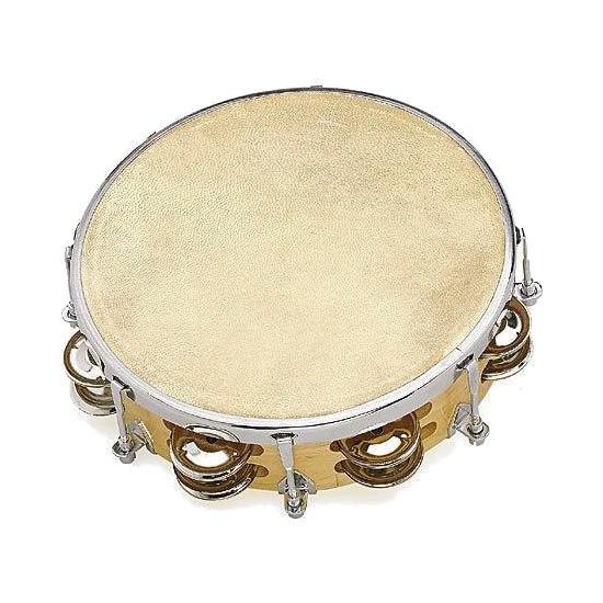 Fuzeau Tambourin Peau Naturelle 20CM + Cymbalettes