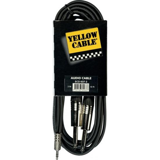Yellow Cable K07M-3 Double Jack/Mini-Jack Stéréo 3M