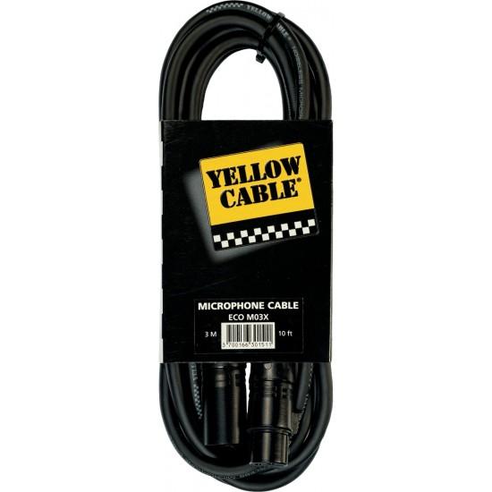 Yellow Cable M03X XLR/XLR Femelle 3M