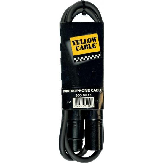 Yellow Cable M01X XLR/XLR Femelle 1M