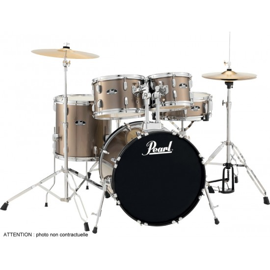 "Pearl RS585CC-707 Batterie Junior 18"" 5 fûts Bronze Metallic"