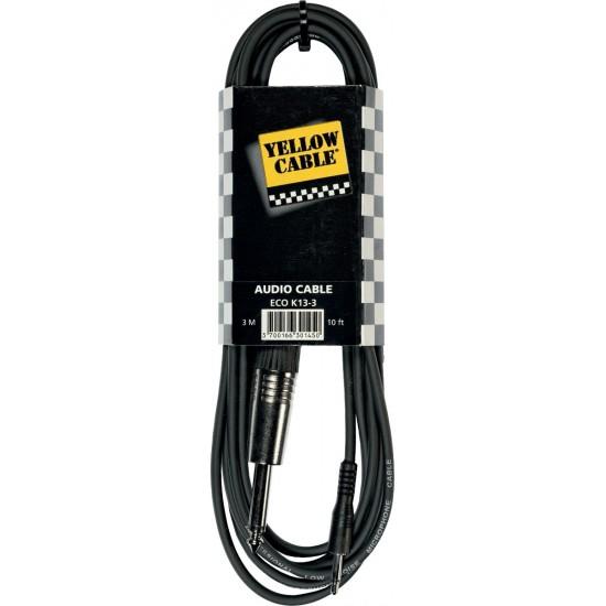Yellow Cable K13-3 Jack/Mini-Jack 3M