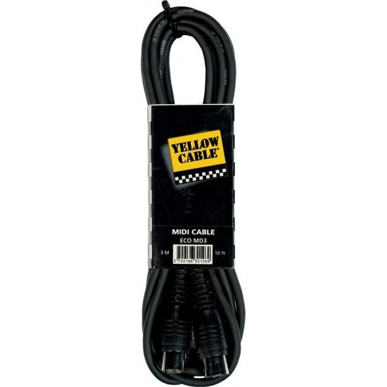 Yellow Cable MD3 Cordon Midi 3M