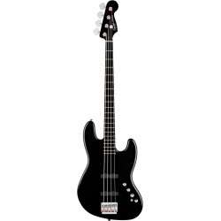 Squier Deluxe Jazz Bass IV Active Ebonol Fingerboard Black