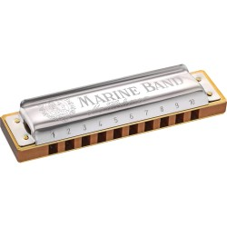 Hohner 1896/20 D Marine Band Harmonica Diatonique