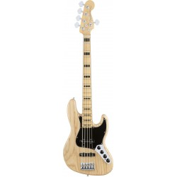 Fender American Elite Jazz Bass V Ash MN Natural