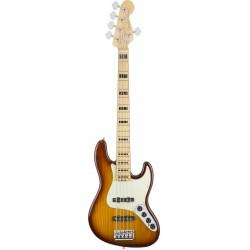 Fender American Elite Jazz Bass V Ash MN Tobacco Sunburst