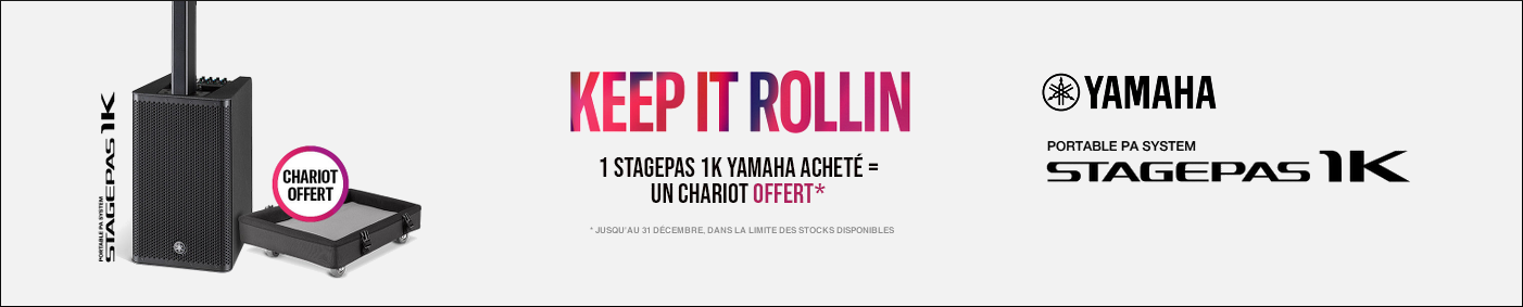 Offre Yamaha Stagepas 1K + Chariot offert!